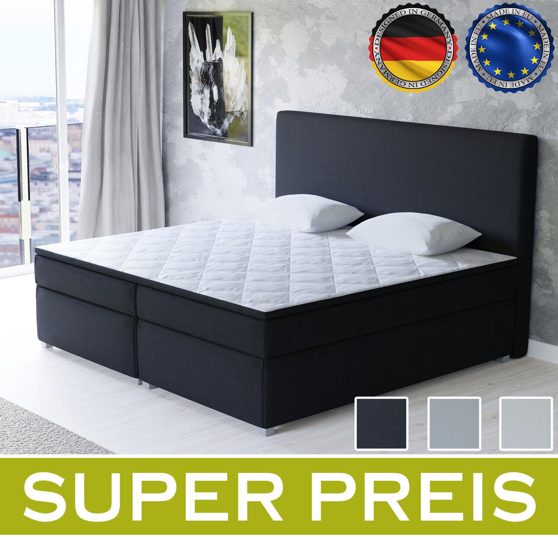 Boxspringbett Alabama Bett Designerbett Doppelbett Schlafzimmer Topper