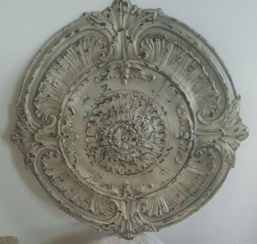 "Vintage Tin Ceiling Wall Victorian Decor 36"" Round Tile"