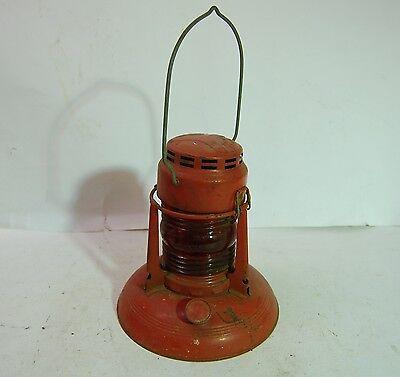 Dietz No. 40 Red Glass Traffic Highway Barricade Railroad Lantern