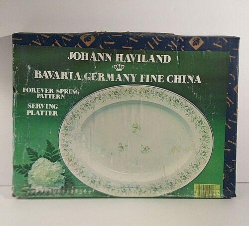 Johann Haviland Bavaria Germany China FOREVER SPRING Oval Serving Platter NEW