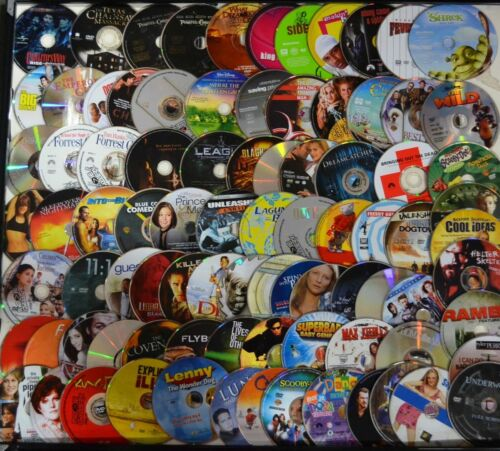 Wholesale Lot of 100 Randomly Chosen Used DVD Disc Only Mostly Ex Rental No Dups