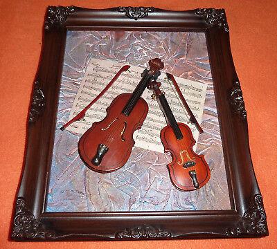 Assemblage Geige & Violine mit Noten Gemälde Collage Musikinstrumente ()