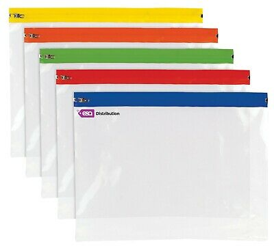 A4++ Polythene Clear Zippy Bags Strong Storage Document Files - Pack of 25