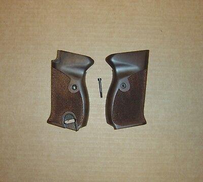 Walther-Model P 38 Pistol- Grip Set (Re-Pro)-  Walnut- Checkered- NEW for sale  Houston