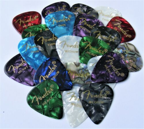 Fender 351 Premium Celluloid Guitar Picks 12 Variety Pack (Thin, Med and Heavy)