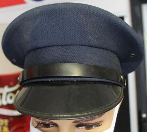 Vintage Navy Blue Gas Service Station Attendants Hat