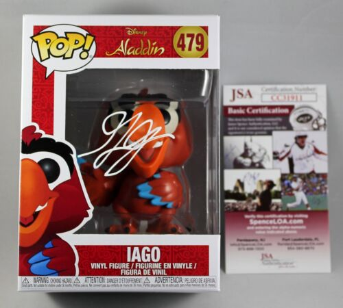 GILBERT GOTTFRIED SIGNED IAGO DISNEY'S ALADDIN FUNKO POP VINYL FIGURE +JSA COA