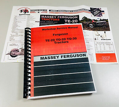 Massey Ferguson To-30 To-20 Te-20 Tractor Factory Service Shop Manual 20 30
