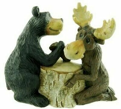 Bear & Moose Arm Wrestling Figure, 6.5-inch