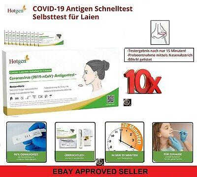 10x Schnelltest Corona Laien Selbsttest Covid19 Antigen Sars Antikörper- HOTGEN®