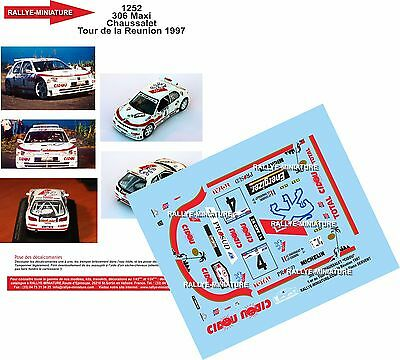 Usado, DECALS 1/43 REF 1252 PEUGEOT 306 MAXI CHAUSSALET TOUR REUNION 1997 RALLYE RALLY segunda mano  Embacar hacia Spain