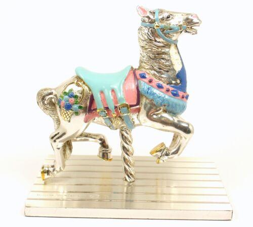 Rare Vintage Tiffany &Co Gene Moore Sterling Silver Enamel Circus Carousel Horse