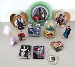 VTG 12-Pc Lot I Love Lucy Hallmark Ornaments Plates Snowglobe Clocks Magnets