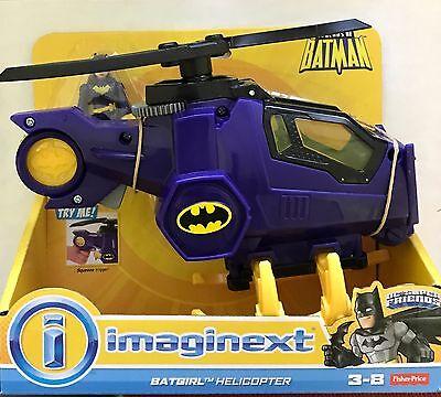 NIB Fisher Price DC Legends of Batman Imaginext Batgirl Helicopter Figure Set