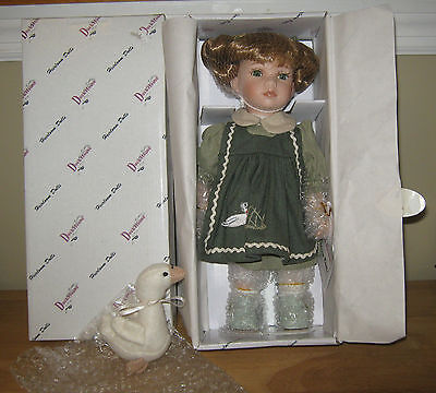 """Duck House Heirloom Limited Edition Porcelain Doll  """"Norah"""" NRFB  11"""" Tall"""
