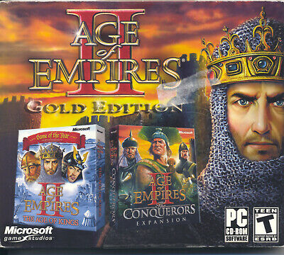 Computer Games - Vintage Computer Game - Age of Empires II: Gold Edition (2010) CD-ROM (PC)