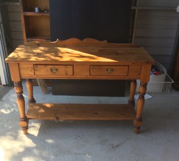 Colonial-style console table