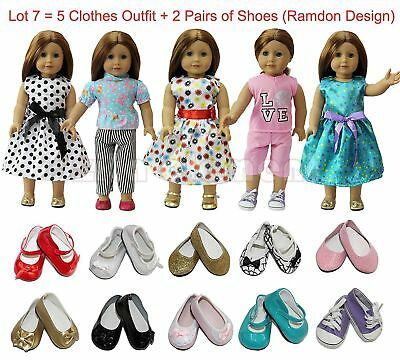 ZITA ELEMENT Doll Clothes- Lot 7=5 Daily Costumes Gown Cloth