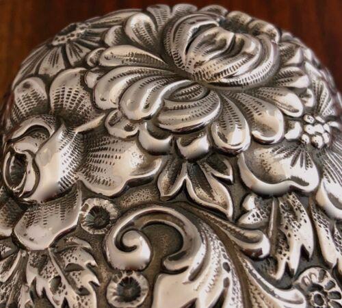 - [2] GORHAM STERLING DRESSER / CLOTHES BRUSHES: FLORAL REPOUSSE NO MONOS 1896