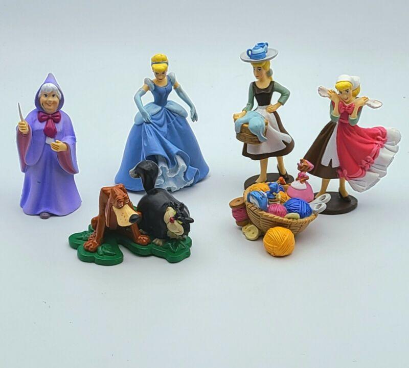 Disney Store Cinderella 6 pcs PVC Figure Toy Cake Topper Set