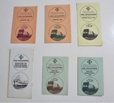 Vintage 1970s Lot of 6 Erie Lackawanna Railroad EL Timetables Main Line NJ