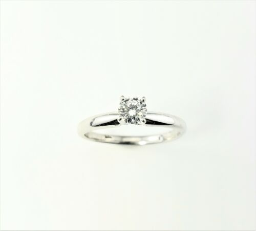 Vintage The Leo 14 Kt Gold and Platinum Diamond Engagement Ring Size 6.5 #7971