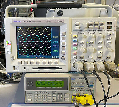 Tektronix Tds3054b 4 Ch Dpo Oscilloscope 500mhz 5gsas 3gv Trg Fft Vid Aam Lim