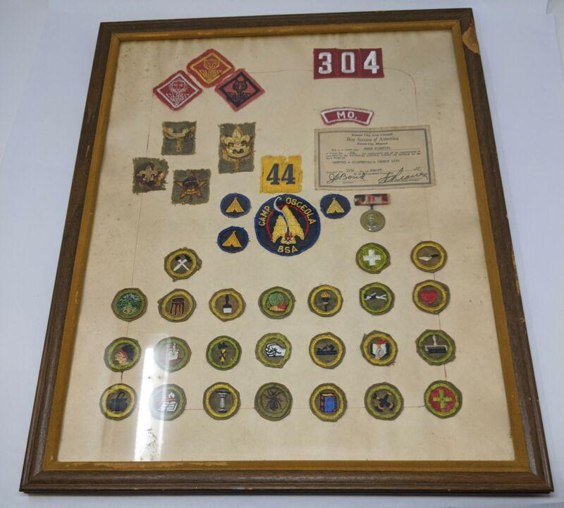 Vintage Boy Scout Eagle Merit Badge Collection circa 1947