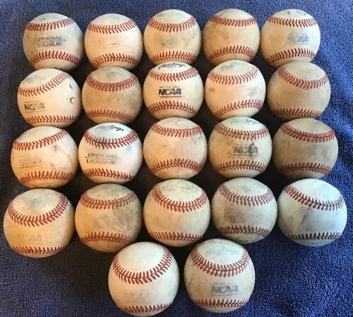 22 - Used Leather Practice Baseballs - Rawlings, Various Brands - lot 3