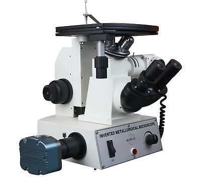 Radical Research 40-2000x Inverted Metallurgical Metallograph LED Reflected Light Microscope w M FLAT Objectives Polarizing 3Mega Pixel USB Camera and Software