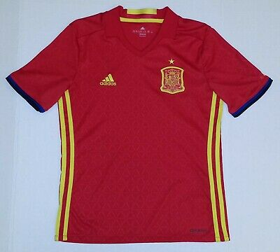 Adidas Spain National Team  2015/16 Home Jersey Soccer Boy's Youth U.S. M Adidas Spain Youth Home Jersey