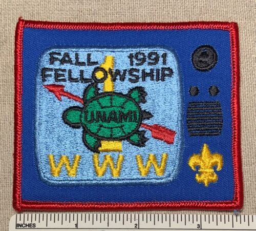 1991 UNAMI LODGE 1 ONE Order of the Arrow Fellowship PATCH OA TI Boy Scout Camp
