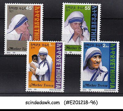 EHIOPIA - 1999 MOTHER TERESA - 4V - MINT NH