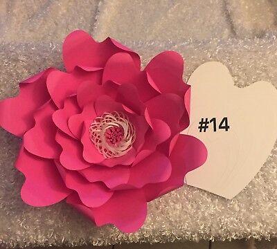Hard Copy Paper Flower Template #14, DIY Paper Flower Backdrops, Flower Petal