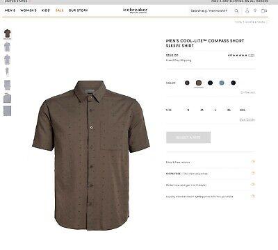 Icebreaker Cool-Lite Compass Short Sleeve Shirt - Small