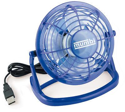 mumbi USB Ventilator Mini Tisch Venti Fan f. Computer Notebook Laptop blau Blau Usb Mini