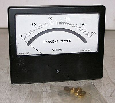 0-150 Percent Power Analog Panel Meter Weston Model 1956t