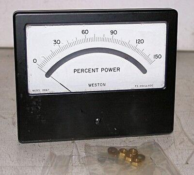 0-150 Percent Power Analog Panel Meter Weston Model 1956t