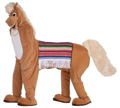 DELUXE TWO PERSON PLUSH HORSE ADULT MASCOT COSTUME - Two Person Costume
