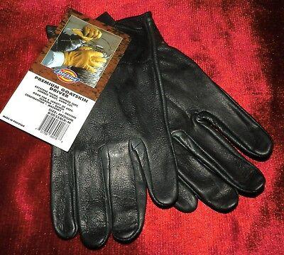 DICKIES GLOVES BLACK GOATSKIN LEATHER DRIVER  'xXx' (2002) NWT SIZE MEDIUM - Goatskin Leather Driver
