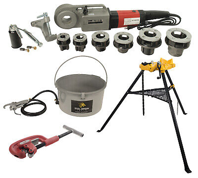 Steel Dragon Tools 600 Pro Threader With 418 Oiler 460 Chain Vise 2a Cutter