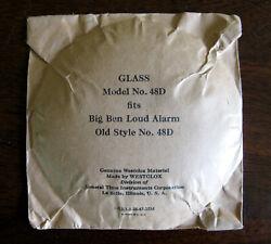 Big Ben Loud Alarm Clock Replacement GLASS - Model No. 48D - Westclox - NOS