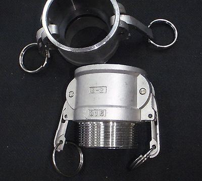 Stainless Steel Cam Lock Adapter 2 Female - 2 Npt Male Nipple Cl14-200