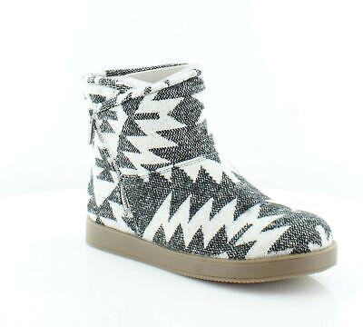 Indigo Rd. Womens Ashley Fabric Closed Toe Mid-Calf Cold, White Multi,  8.0 NEW