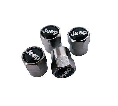 Jeep Auto Ventilkappen   Silber   Renegade Compass Wrangler Cherokee   NEU 2018