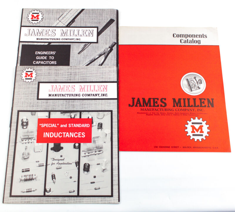 Vintage James Millen Catalogs: Radio Components, Inductors & Capacitors Lot of 3