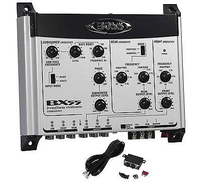 audio Electronic Crossover + Remote Bass Knob (3 Way Electronic)