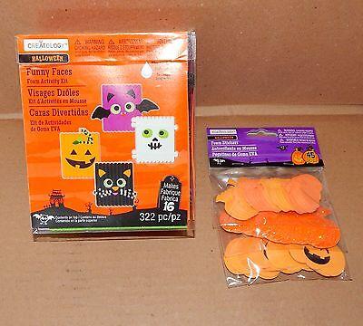 Creatology Halloween Foam Activity Kits (Halloween Foam Activity & Foam Stickers Kits Creatology4+Funny Faces Pumpkin)