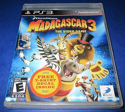 Madagascar 3: The Video Game Sony PlayStation 3    *New-Sealed-Free Shipping!
