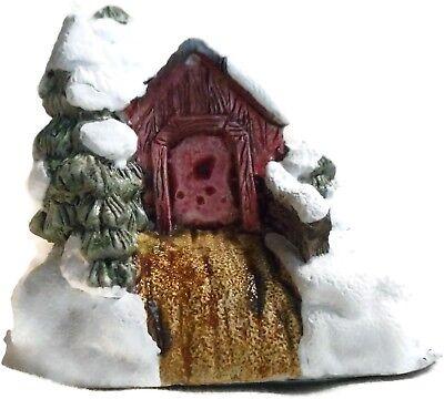American Rustic Christmas Covered Bridge RSVP Vintage Miniature Cottage w/ Box